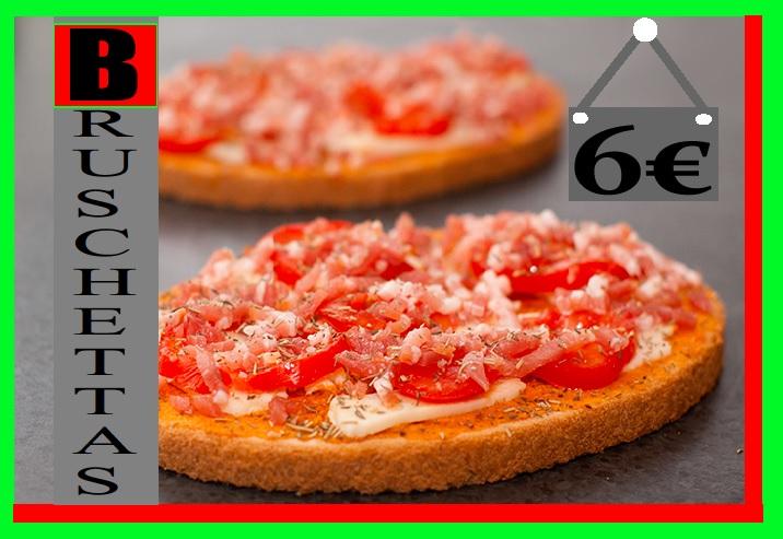 Bruschettas Pasta di Pizza de Nogent Oise