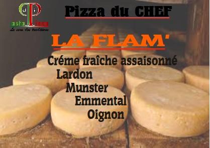 La Flam : une pizza pleine de fromage de goût chez Pasta di Pizza de Nogent sur Oise