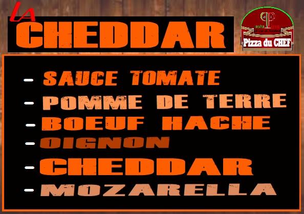 La Pizza du Chef : La Cheddar