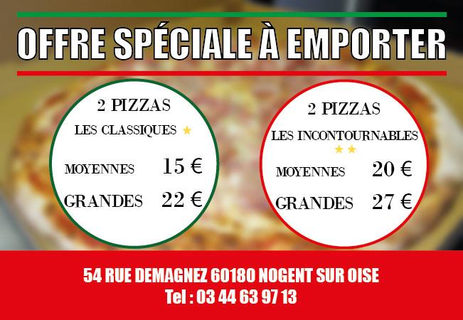 Menu à emporter 2017 Pasta di Pizza Nogent sur Oise